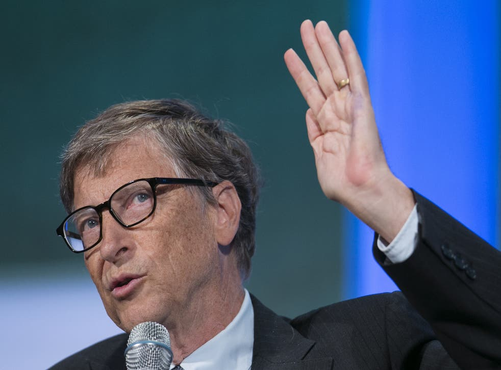Bill Gates speaks on stage at the Clinton Global Initiative 2013 (CGI) in New York September 24, 2013.