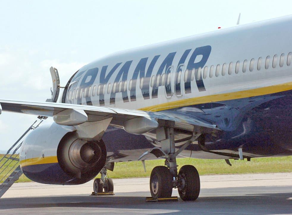 A Ryanair Boeing 737 aircraft