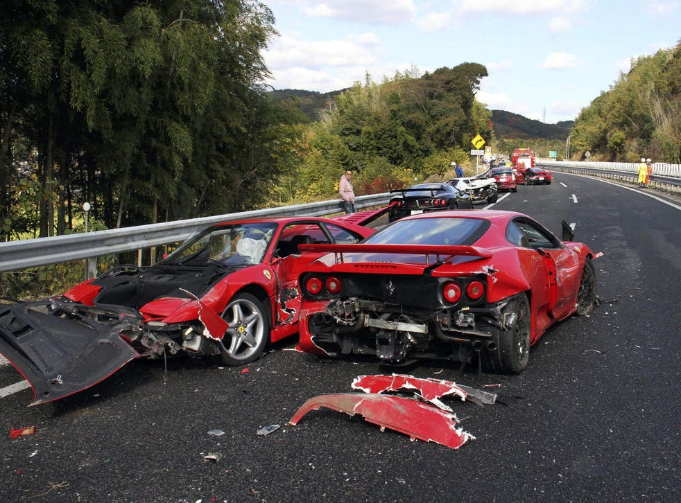 A cautionary tale of driving Ferraris too fast