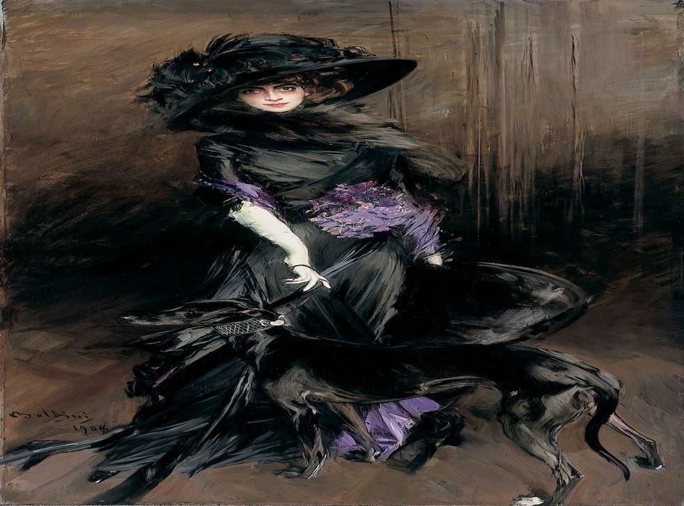 Boldini's 1908 portrait of the self-proclaimed 'living work of art', La Casati