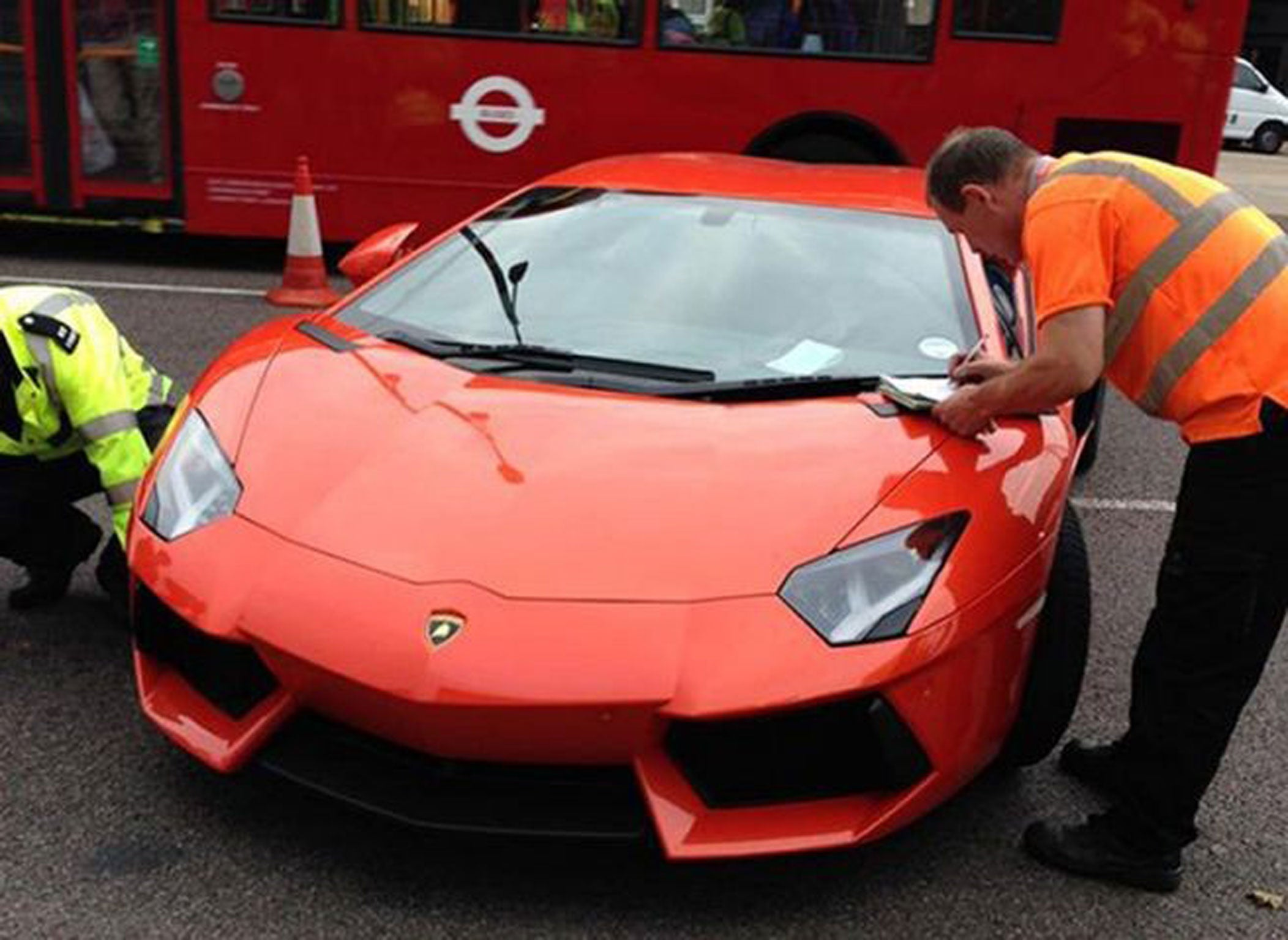 Bad Marques: £400,000 Orange Lamborghini Aventador Becomes Latest Supercar  To Fall Foul Of Police Crackdown On Uninsured Vehicles | The Independent