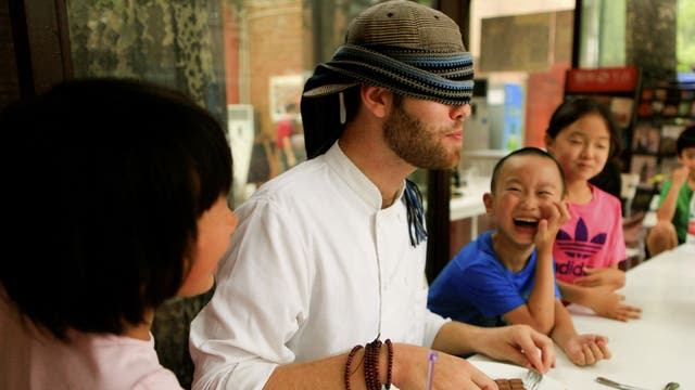 Supper class: Jamie Bilbow teaches beginners' courses in Western cookery in China