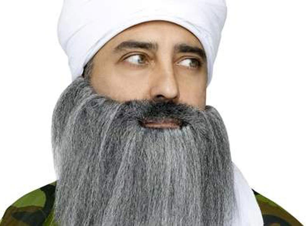The beard and turban costume that is causing controversy in the US
