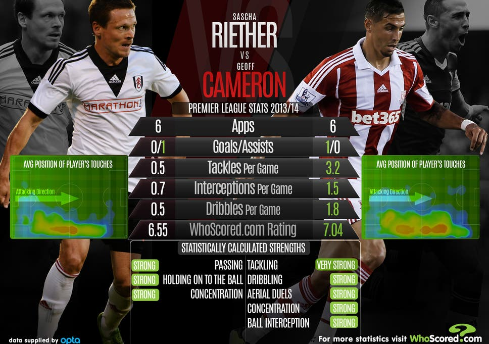 Sascha Riether v Geoff Cameron: Head-to-head analysis ahead