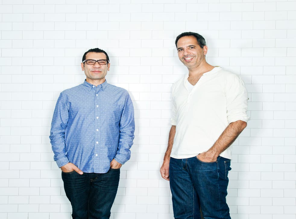 Ottolenghi (right) says: 'Sami has given me a sense of freedom, which he applies to the way he lives'