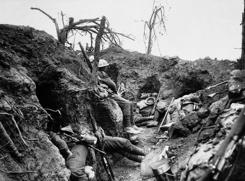 British infantrymen rest in a captured German trench during the Somme offensive of 1916. From The Great War: A Photographic Narrative (Jonathan Cape, £40)