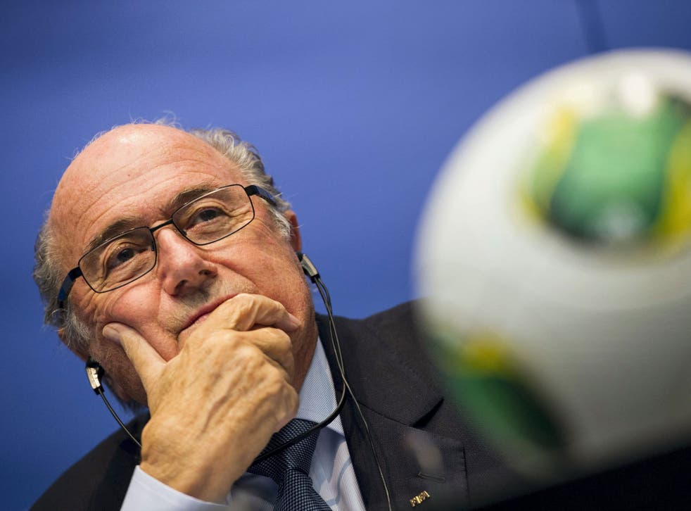 Fifa president Sepp Blatter listens to questions in Zurich