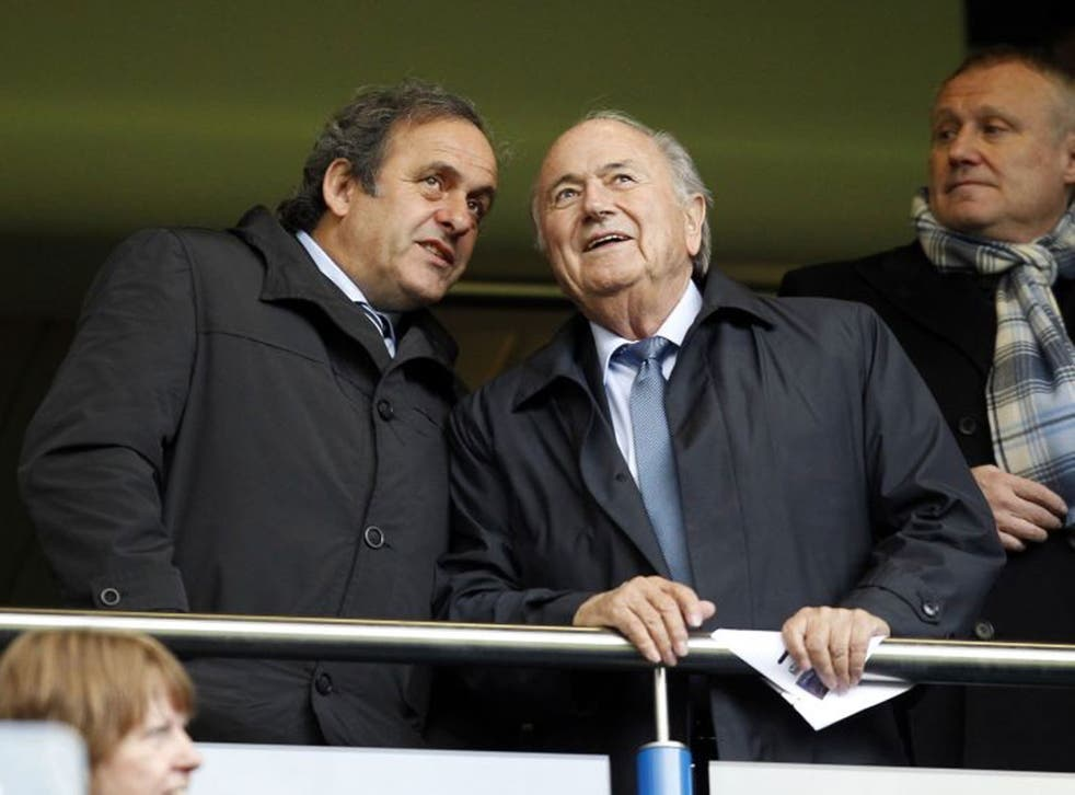 French Evolution: Michel Platini had Sepp Blatter to thank for his rise at Uefa but now wants the game's top job