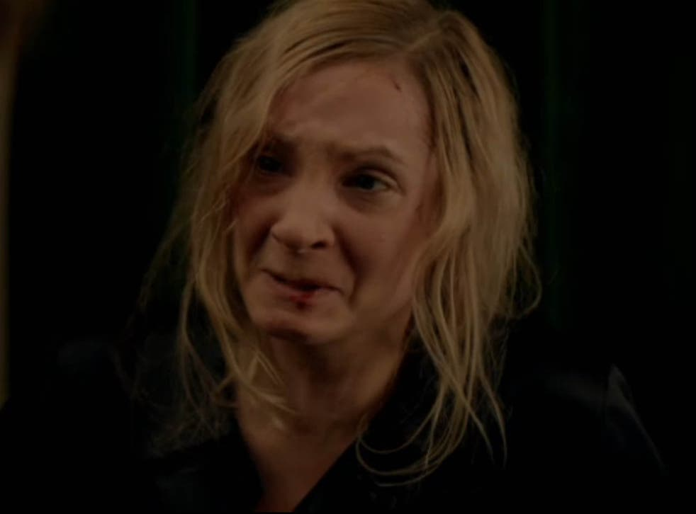 Joanne Froggatt as Anna Bates, who was raped by a visiting valet in Downton Abbey