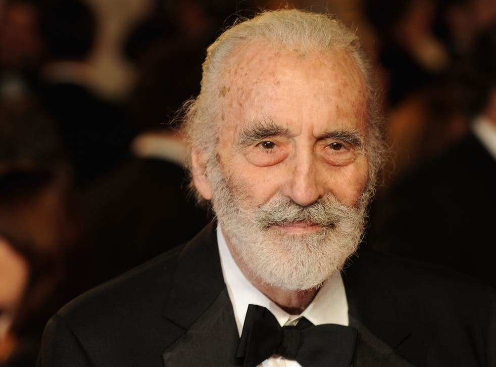 Christopher Lee will be honoured with a BFI fellowship