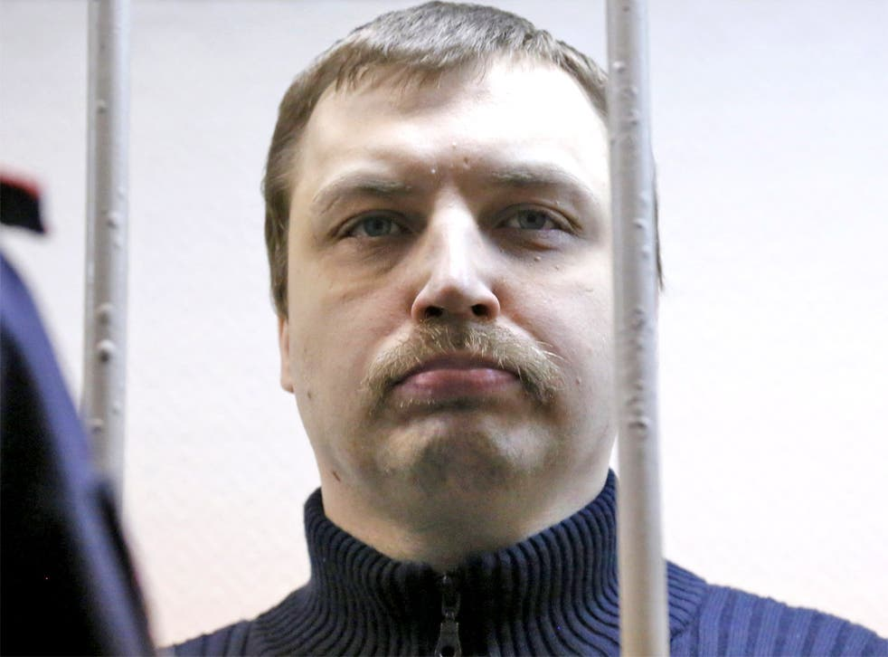Mikhail Kosenko during his trial in Moscow