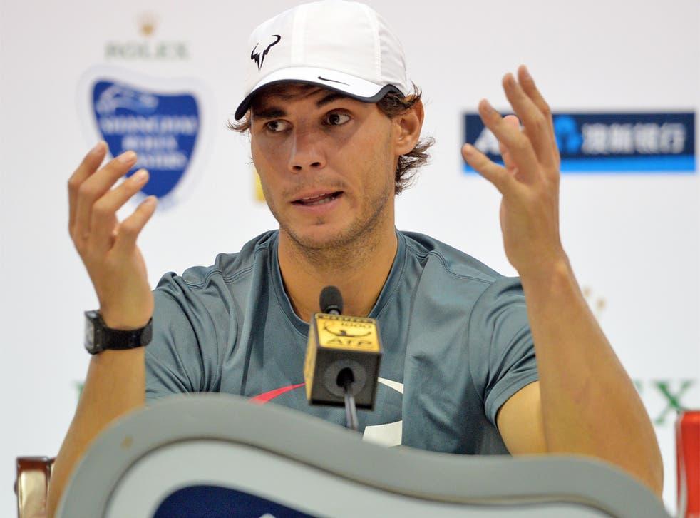 Rafael Nadal is still struggling with knee pain