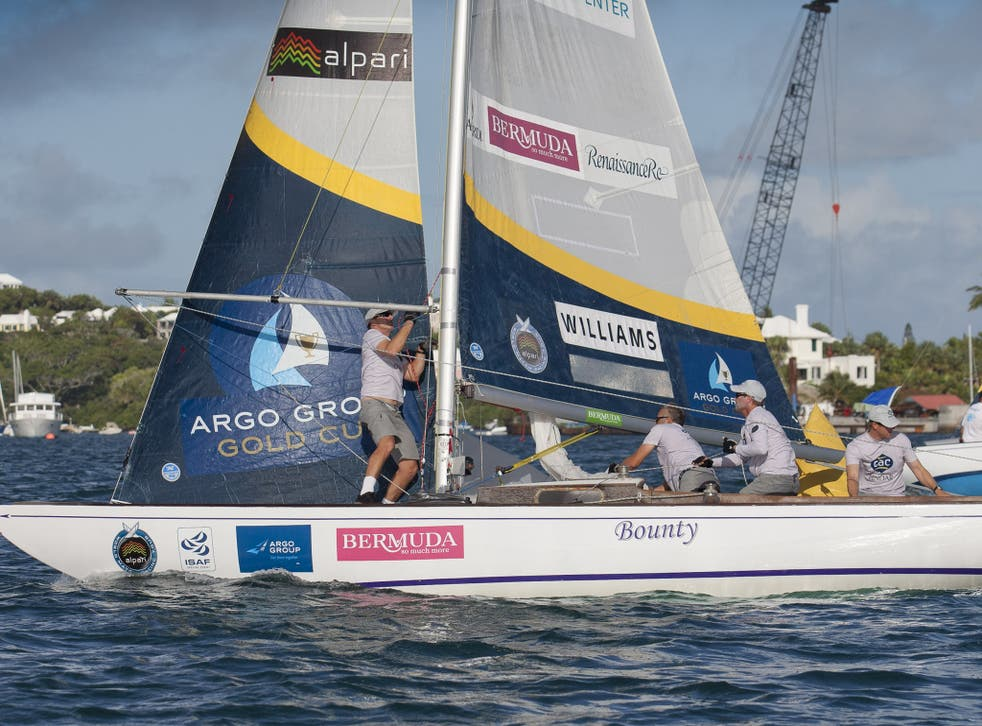 Ian Williams and Team GAC Pindar lead Ben Ainslie's BART crew in their top of the table clash as part of the Argo Group Gold Cup regatta in Bermuda, part of the Alpari World Match Racing Tour