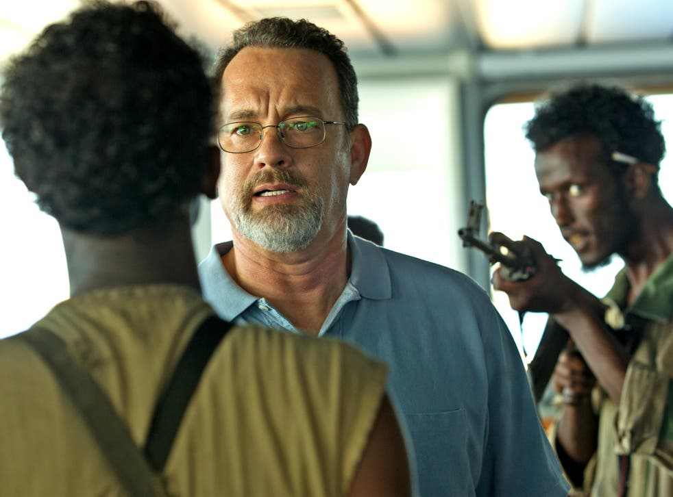 Dour but impressive: Tom Hanks in the title role of 'Captain Phillips'