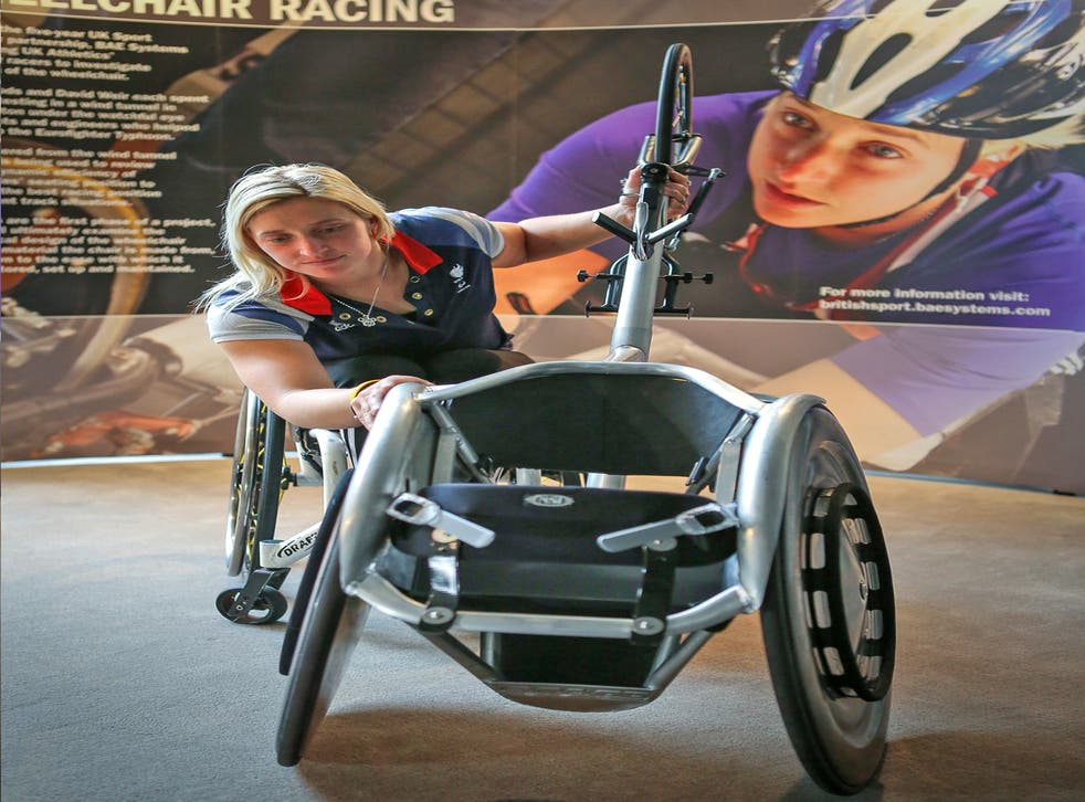 Paralympic medallist Shelly Woods unveils a revolutionary new wheel on her chair