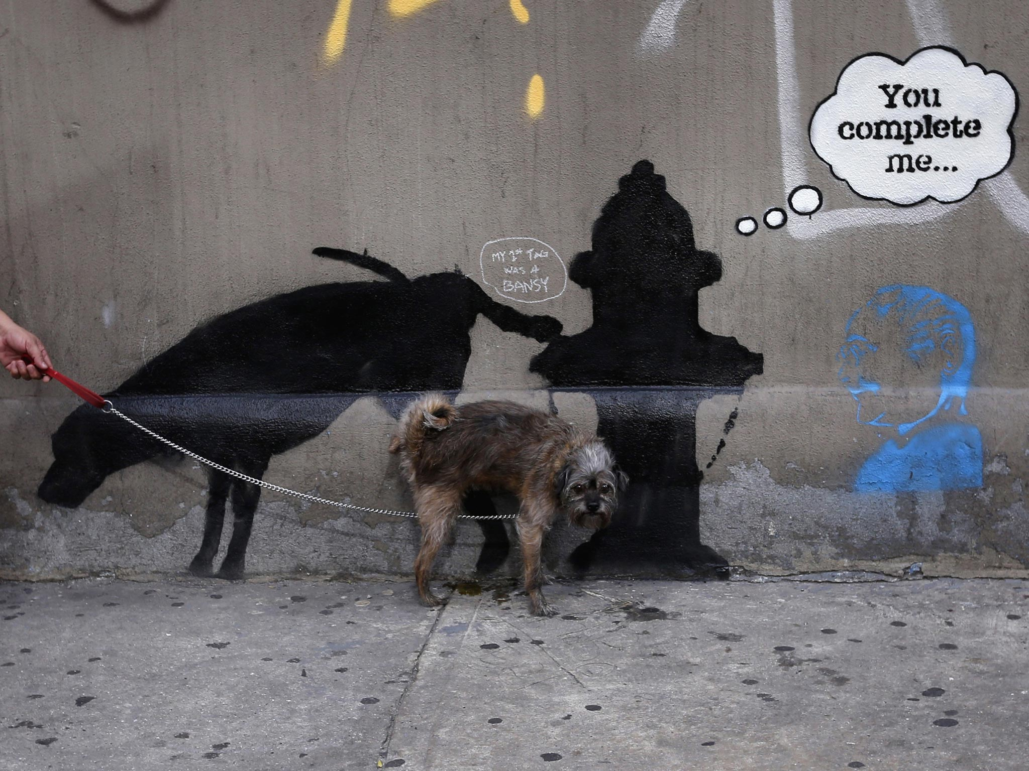 Banksy defaced: Graffiti artist's New York project ruined by