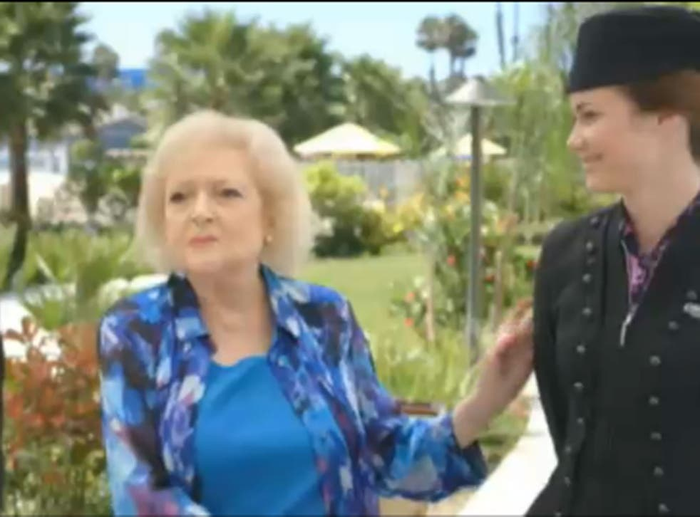 Betty White in the new Air New Zealand in-flight safety video