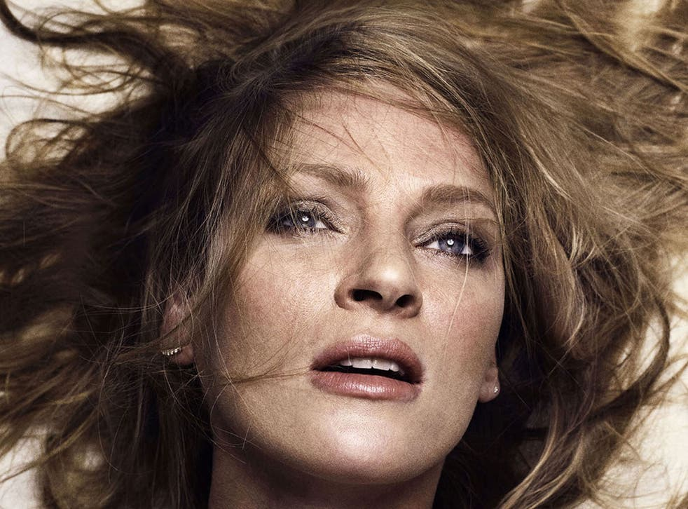 Uma Thurman in a raunchy poster campaign for Lars Von Trier's Nymphomaniac