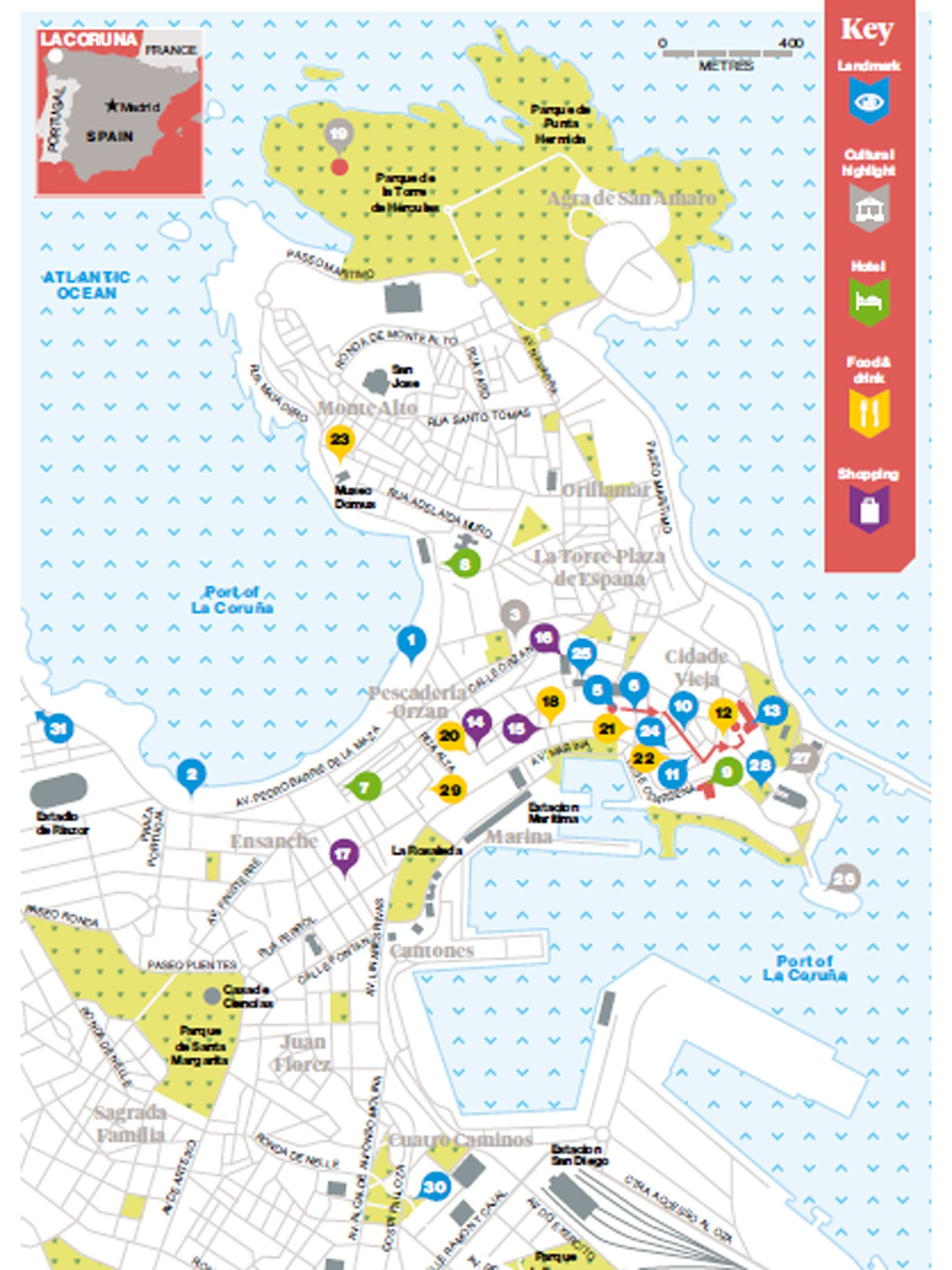 Map Of Spain La Coruna.48 Hours In La Coruna The Independent