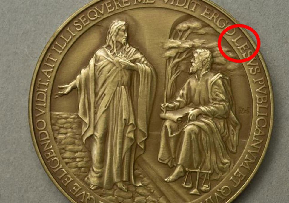 vatican misspells jesus on pope francis commemorative coins the