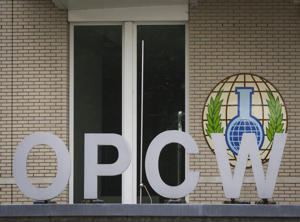 The Organization for the Prohibition of Chemical Weapons' (OPCW) building in The Hague, The Netherlands