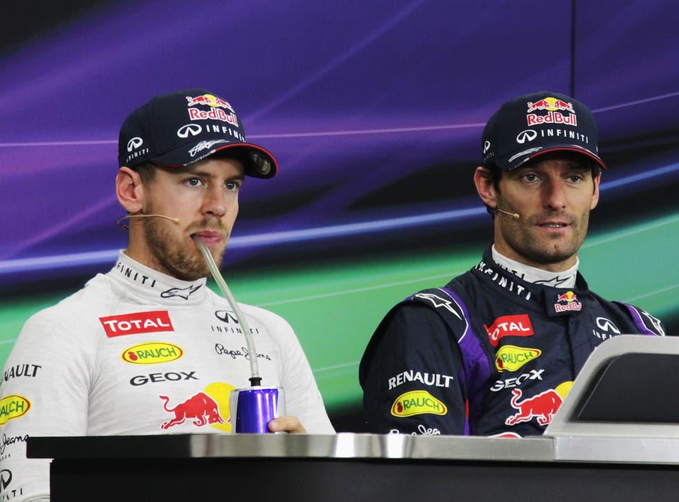 Sebastian Vettel will start the Japanese Grand Prix in second behind his Red Bull team-mate Mark Webber