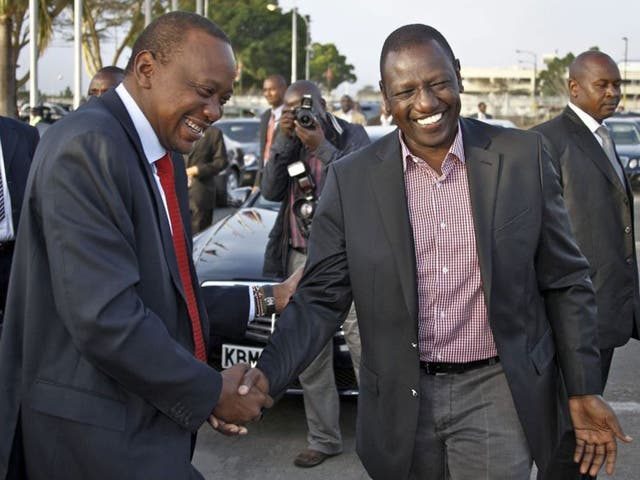 On trial: President Uhuru Kenyatta and William Ruto are charged over the violence after the 2007 elections