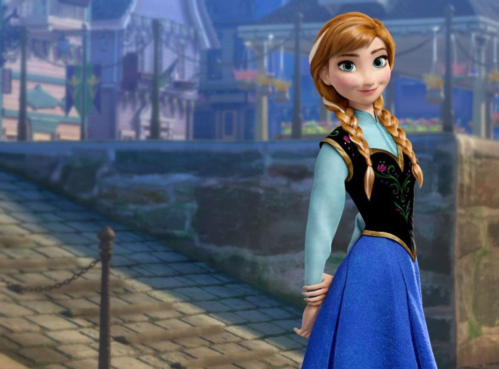 Twice as ice: Frozen heroines Anna (pictured) and Elsa are identical but for their hair colour
