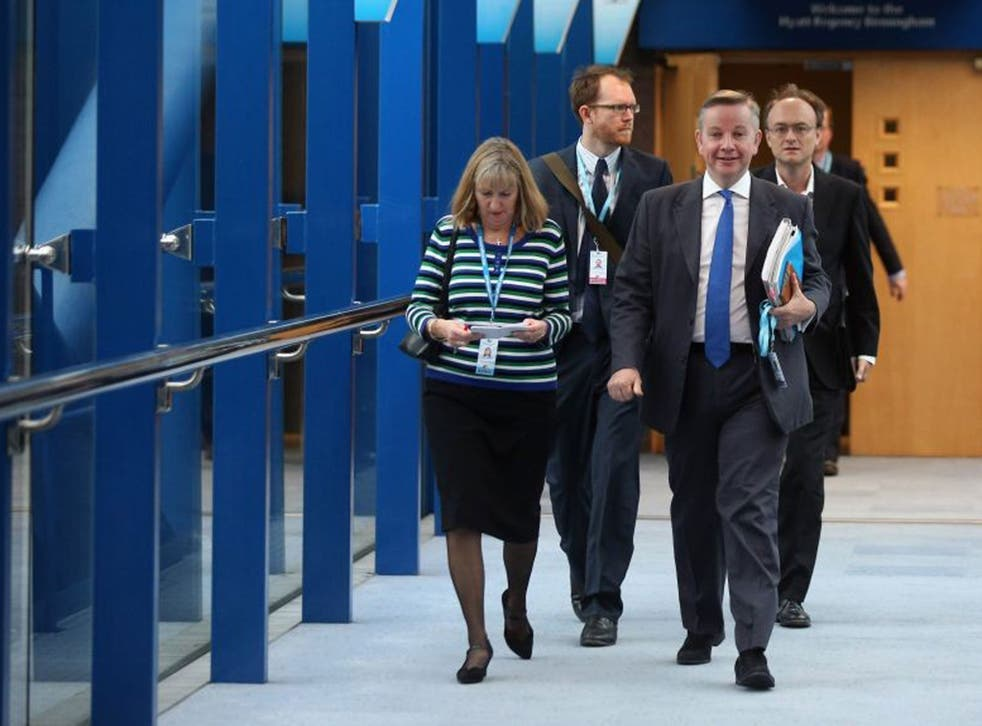 Michael Gove with Dominic Cummings