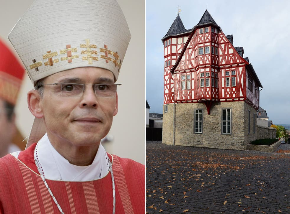 The refurbished residence of Bishop Franz-Peter Tebartz-van Elst in Limburg, Germany