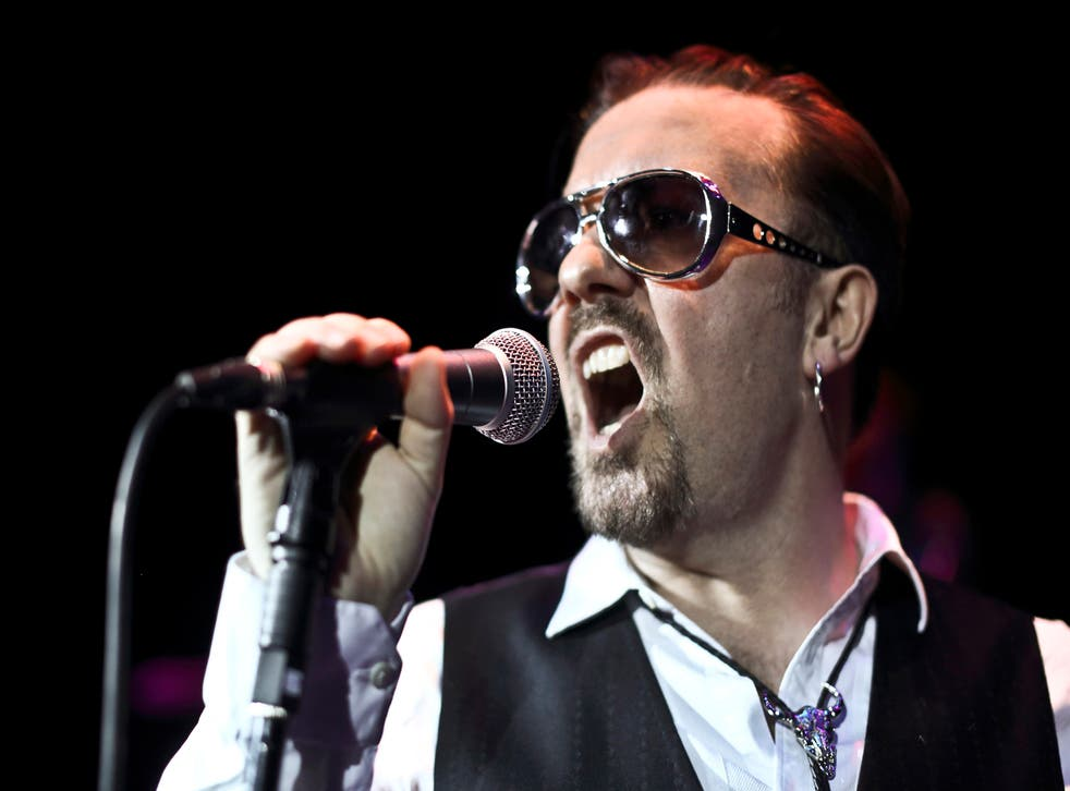 David Brent on stage at the Bloomsbury Theatre in London