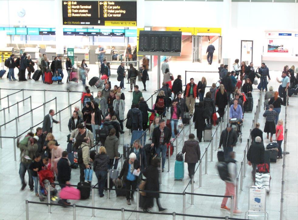 EasyJet passengers overflow at Gatwick South Terminal