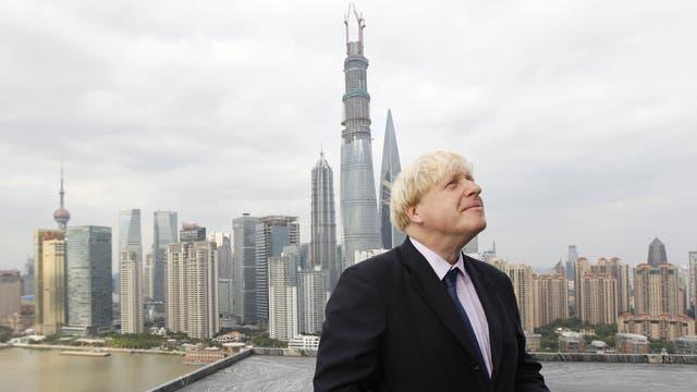 Boris Johnson on his visit to China this week