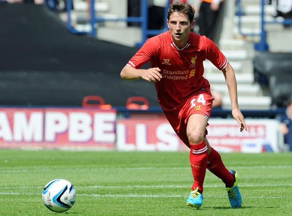 Joe Allen makes a pass for Liverpool