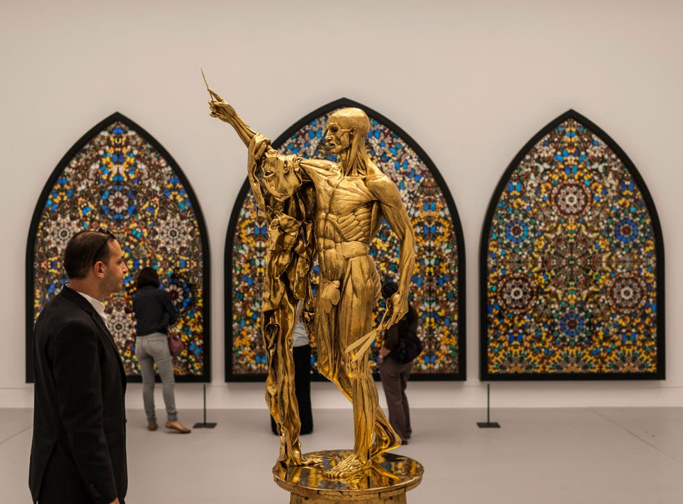 Damien Hirst's 'Saint Bartholomew, Exquisite Pain' has been altered to appease more conservative audiences