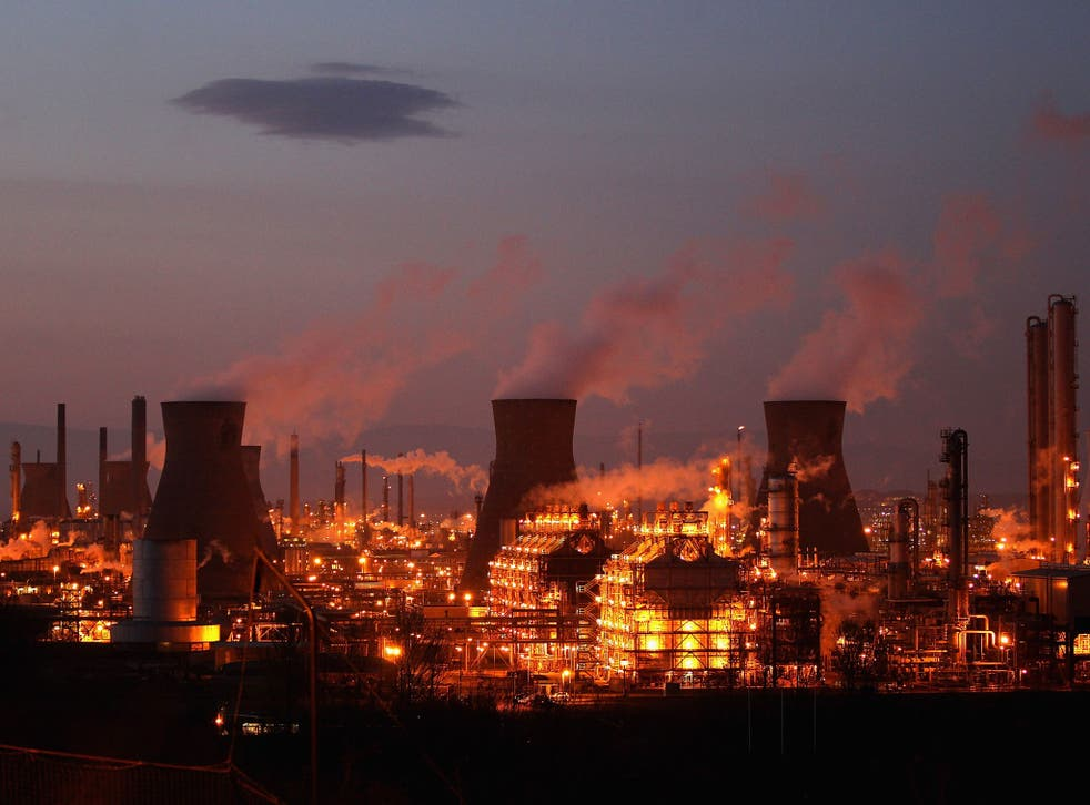 Grangemouth oil refinery on the Firth of Forth processes the fuel used in Scotland