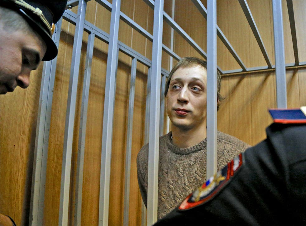 Pavel Dmitrichenko in court in Moscow