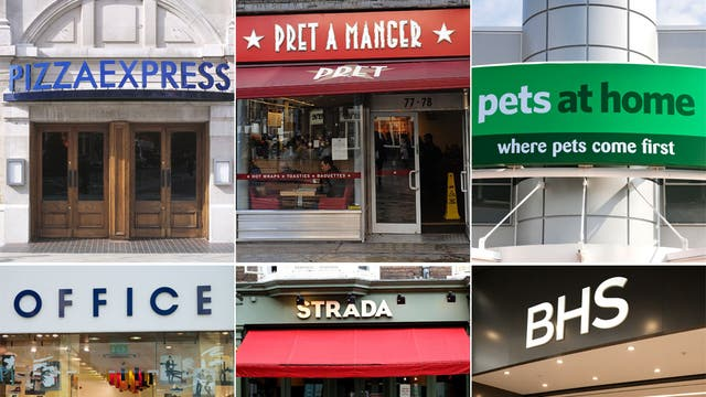 Just some of the high street chains involved in the Eurobonds scheme
