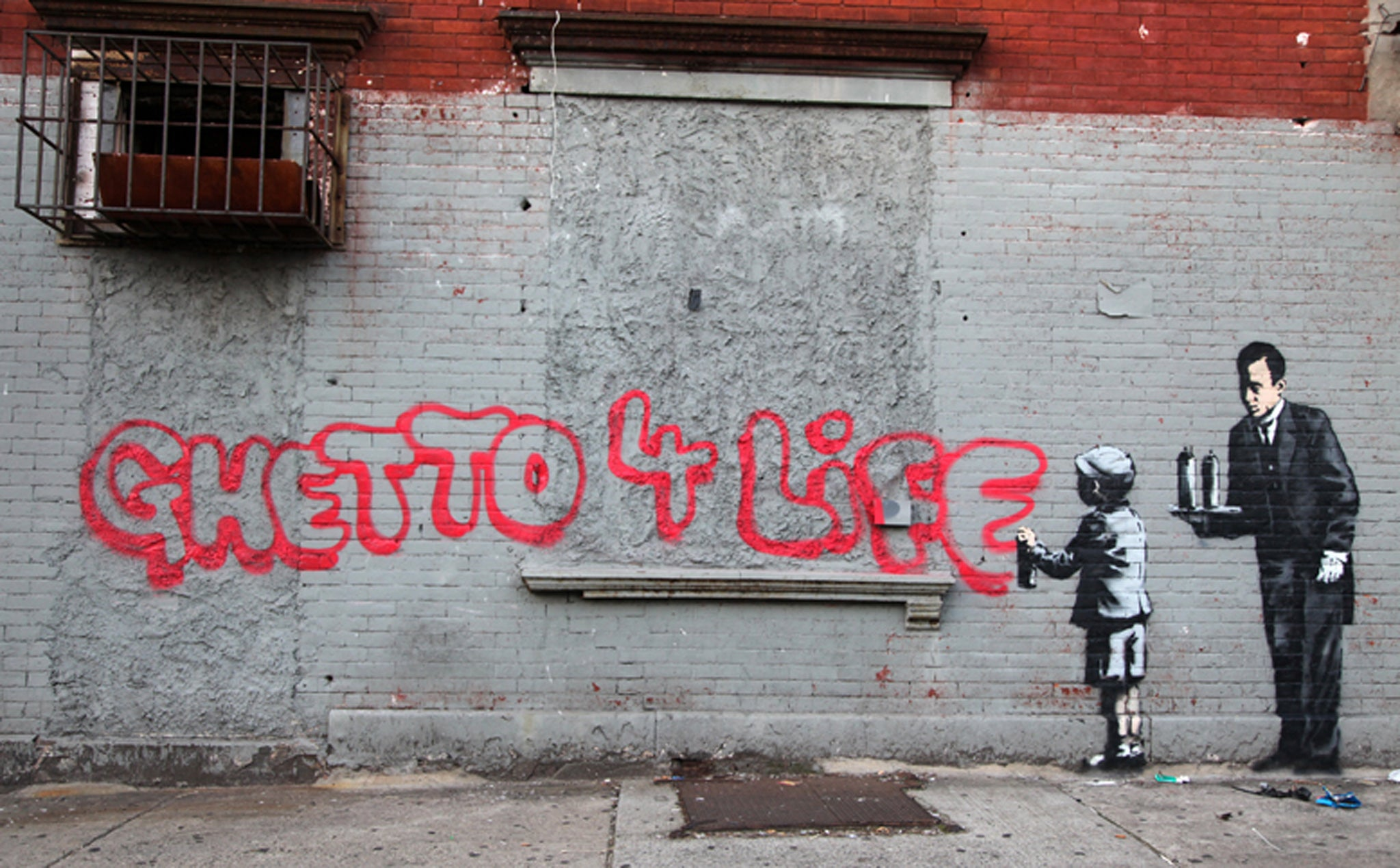 Graffiti art with meaning - Banksy Upsets Bronx Residents With Ghetto 4 Life Graffiti The Independent