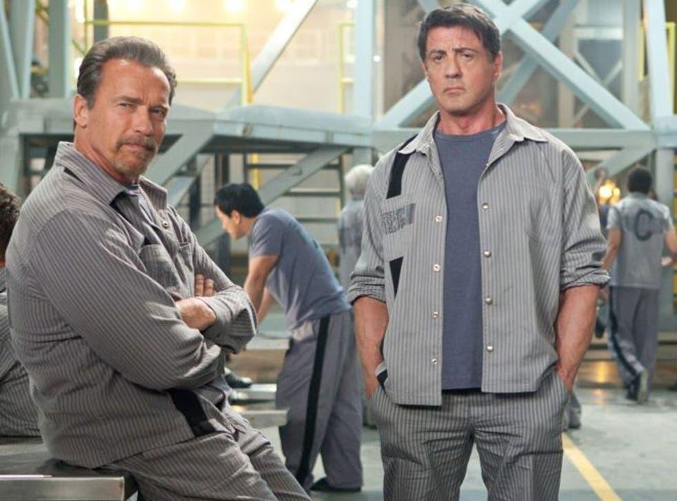 Break out: Arnold Schwarzenegger and Sylvester Stallone in 'Escape Plan'