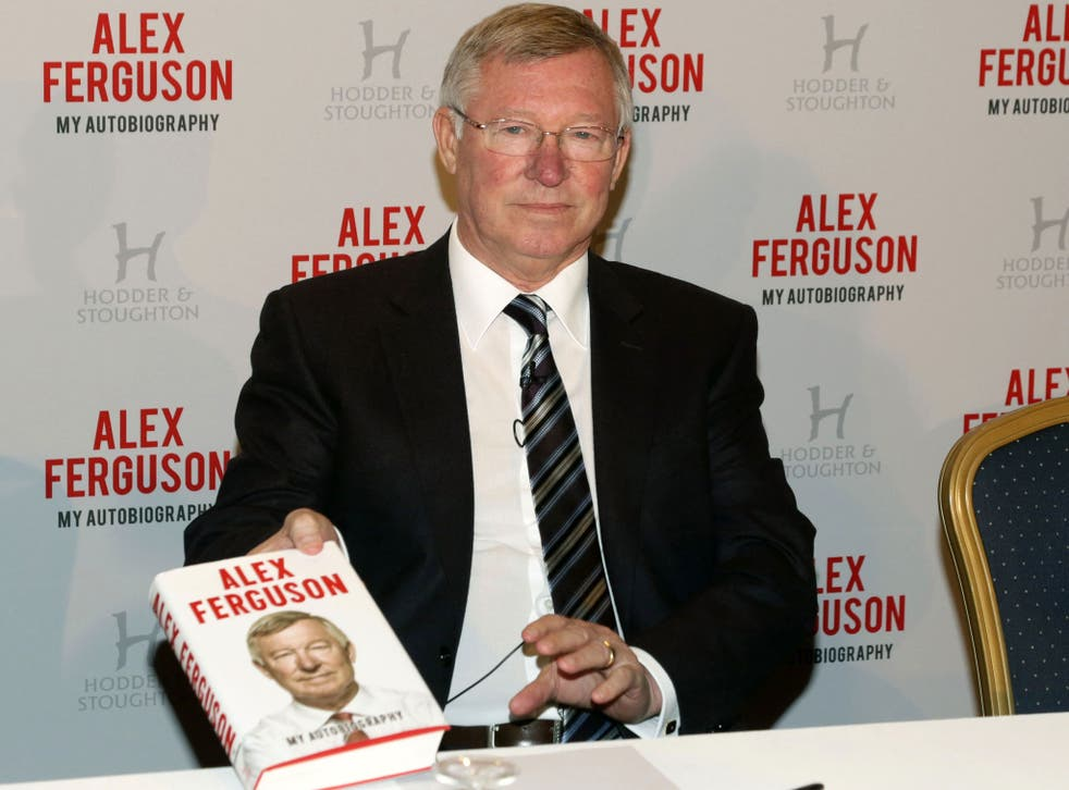 Sir Alex Ferguson at the launch of his autobiography on Tuesday