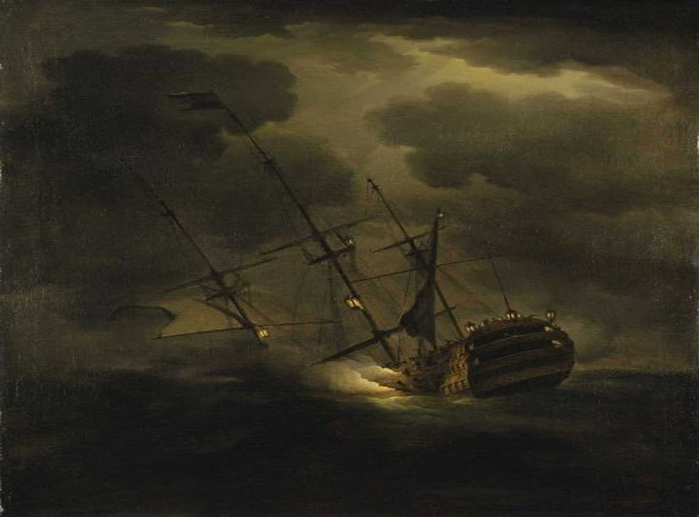 Loss of HMS Victory, 1744 by Peter Monamy