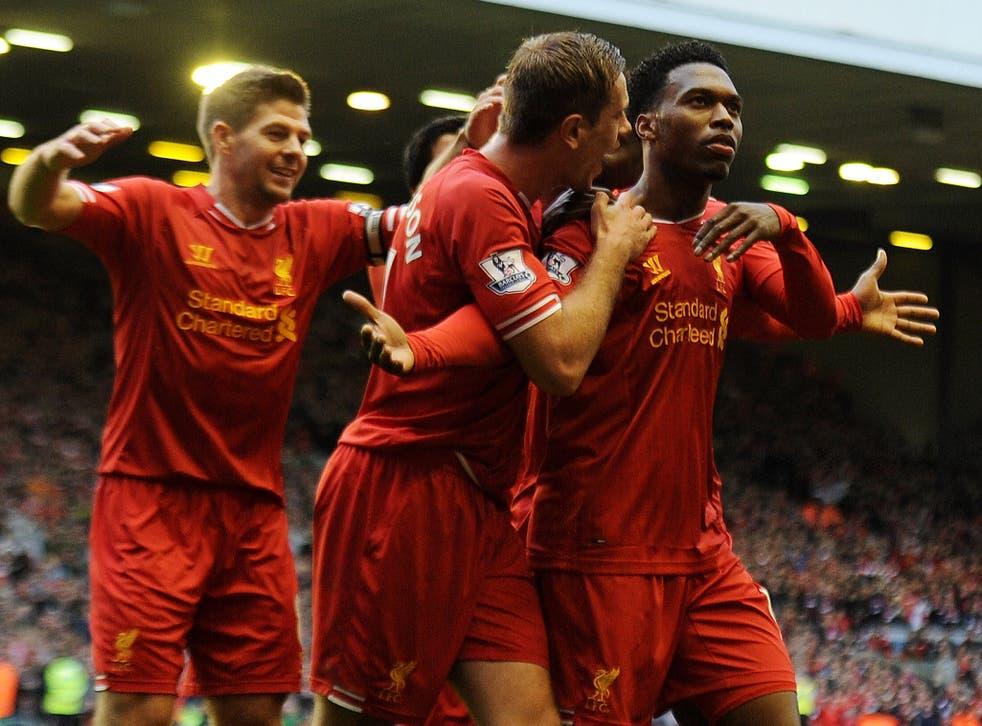 Daniel Sturridge will be hoping for more celebrations against Arsenal