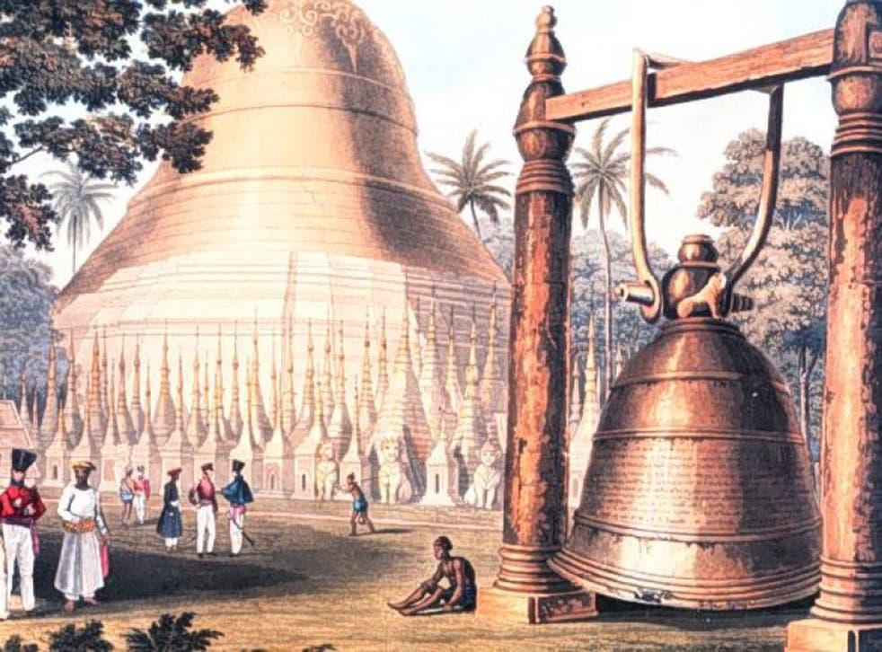 An artwork showing the Dhammazedi bell