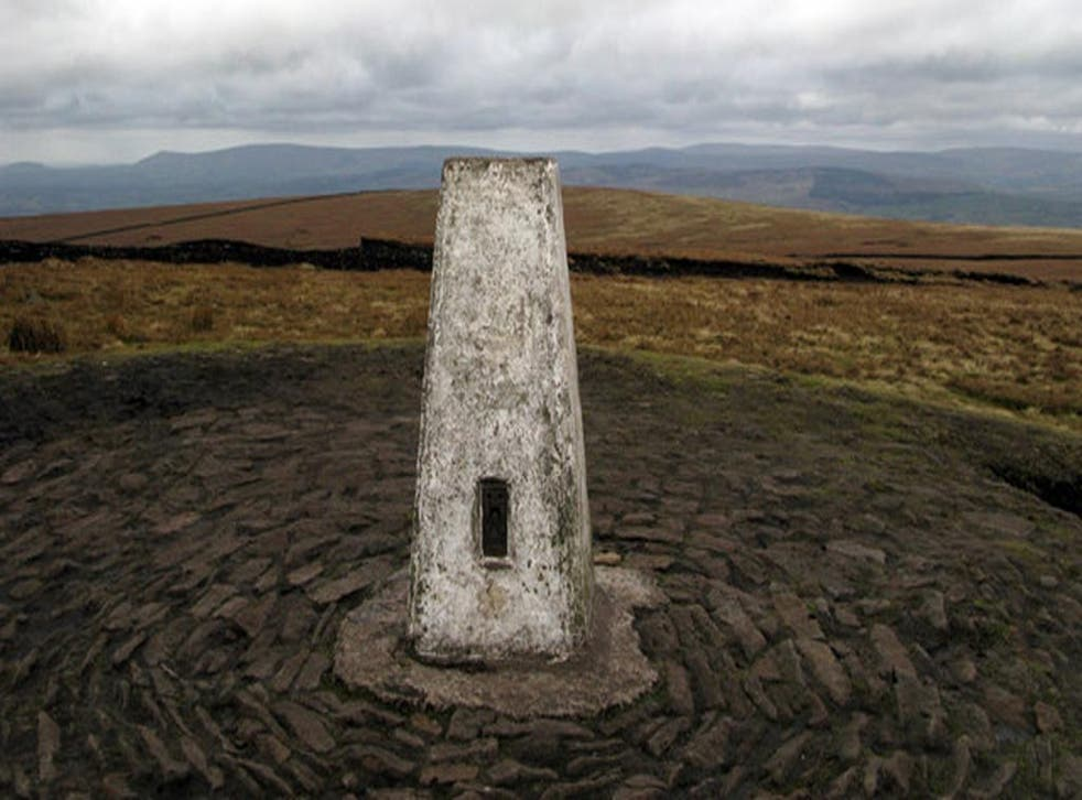 Pendle Hill, located in the east of Lancashire</p>