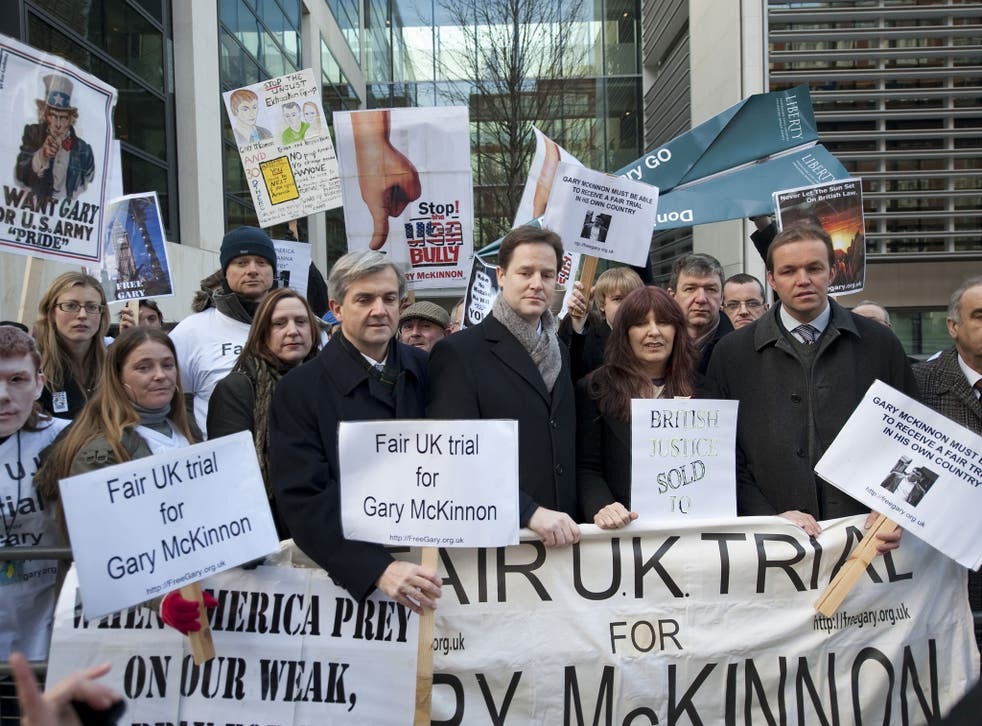 The charge coincides with efforts to give more protection to Britons such as Gary McKinnon who successfully fought extradition to the US after a 10-year legal battle