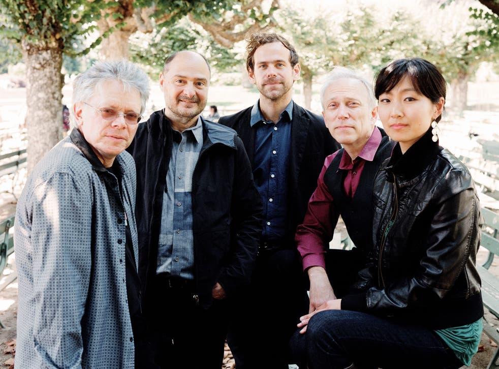 Bryce Dessner (centre) and the Kronos Quartet