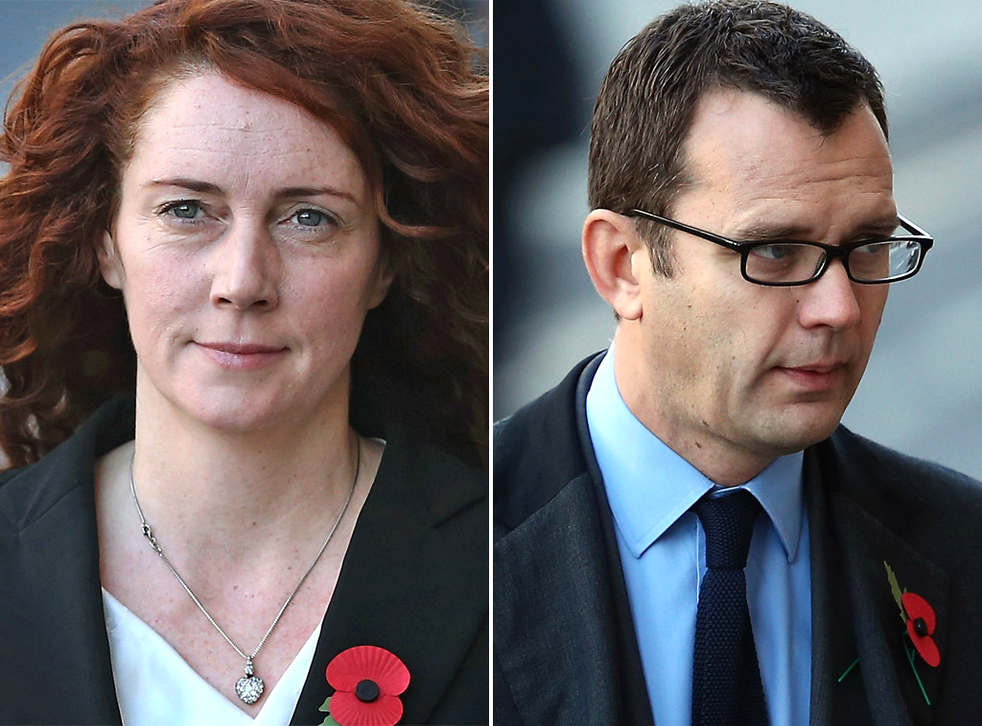 Rebekah Brooks and Andy Coulson arriving at the Old Bailey