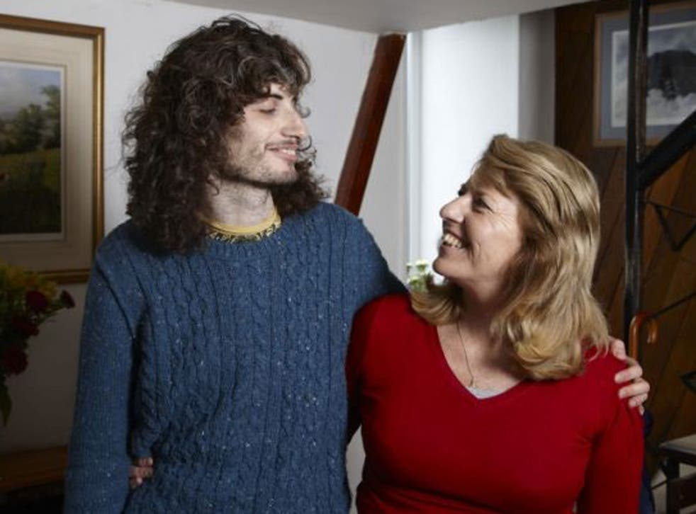 Close knit: James, here with his mother, Penny, was one of the patients featured on Channel 4's 'Bedlam'