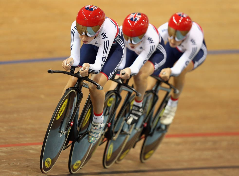 British trio Laura Trott, Elinor Barker and Dani King won the team pursuit at the World Cup